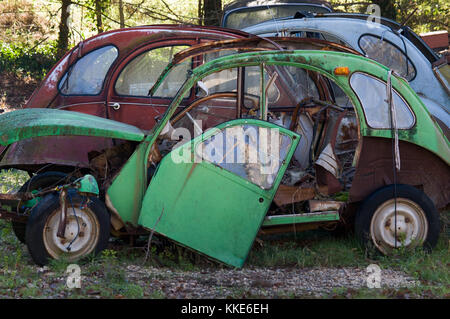 old green citroen 2cv in the city of muenster germany stock photo royalty free image 81737193. Black Bedroom Furniture Sets. Home Design Ideas