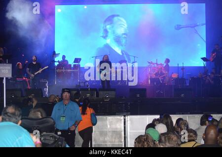 MIAMI BEACH, FL - MARCH 26: Barry Gibb  during the Miami Beach 100 Concert on March 26, 2015 in Miami Beach, Florida. - Stock Photo