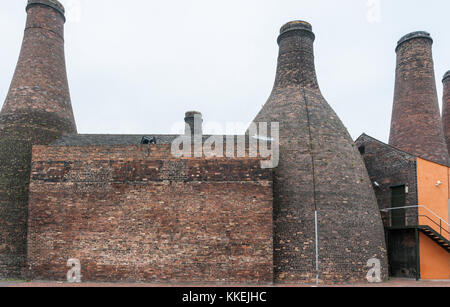 Longton, Staffordshire, UK - April 26 2008: The Gladstone Pottery Museum, Stoke on Trent, Staffordshire, England. - Stock Photo