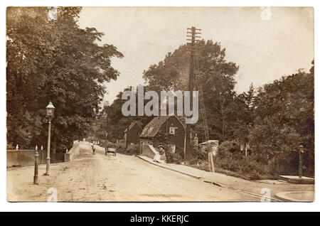 On the reverse side is inscribed 'Prittlewell (near Priory) app 1895'.  This is Victoria Avenue, Prittlewell, Southend - Stock Photo