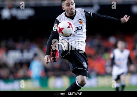 Nacho gil  during spanish the Copa del Rey, Round of 32, Second Leg  match between Valencia CF vs Real Zaragoza - Stock Photo