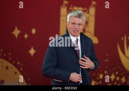 Moscow, Russia. 1st Dec, 2017. Russia Minister of Sport Pavel Kolobkov arrives for the Final Draw of the FIFA World Cup 2018 at the Kremlin Palace in Moscow, capital of Russia, Dec. 1, 2017. Credit: Bai Xueqi/Xinhua/Alamy Live News Stock Photo