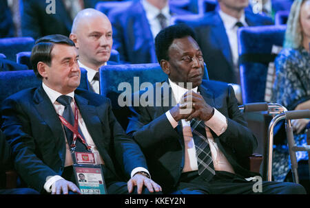 State Kremlin Palace, Moscow, Russia. 1st Dec, 2017. Football, Draw for the FIFA- World Cup 2018, Moscow, December 01, 2017 |usage worldwide. Brazilian star Pele in attendance Credit: Action Plus Sports/Alamy Live News Stock Photo