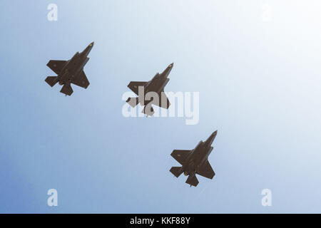 Tel Aviv. 6th Dec, 2017. File photo of F-35 fighter jets is provided by Israel Defense Forces (IDF). Israel's air - Stock Photo