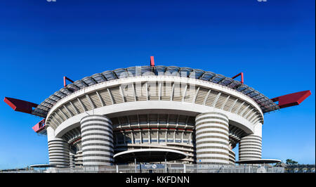 San Siro in Milan, Italy is a football / soccer stadium (capacity 80,018) which is home to both A.C Milan and Inter - Stock Photo