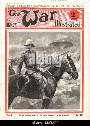 1915 War Illustrated General Sir Ian Hamilton in the Dardanelles - Stock Photo