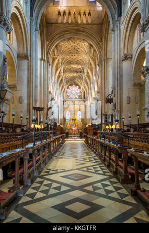 Interior of Christ Church - founded 1524 by Cardinal Wolsey, Re-founded in 1546 by Henry VIII, Oxford University, - Stock Photo