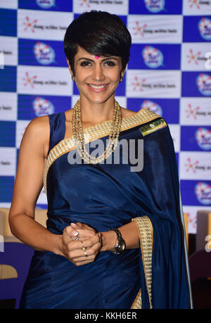Mumbai, India. 30th Nov, 2017. Mandira Bedi at the launch of Surf excel's latest campaign #HaarKoHarao in Mumbai - Stock Photo