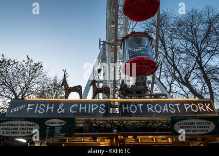 Edinburgh, Scotland, United Kingdom, 30th November 2017.  Edinburgh Christmas celebrations Christmas Market and - Stock Photo