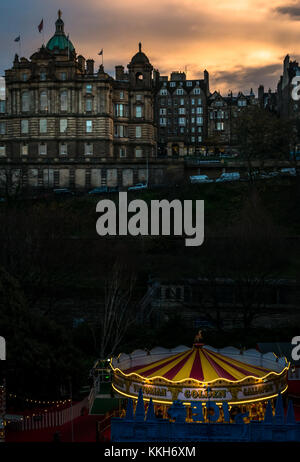 Edinburgh, Scotland, United Kingdom, 30th November 2017. Edinburgh Christmas celebrations include a Christmas Market - Stock Photo