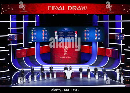 Moscow, Russia. 1st Dec, 2017. The final draw for the 2018 FIFA World Cup takes place at the State Kremlin Palace. Credit: Valery Sharifulin/TASS/Alamy Live News Stock Photo
