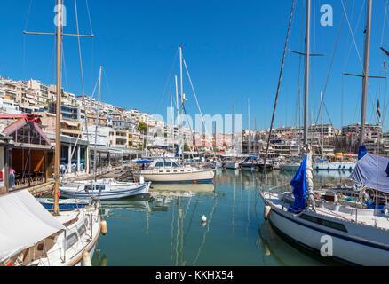 Boats in the Mikrolimano, Piraeus (Pireas), Athens, Greece - Stock Photo