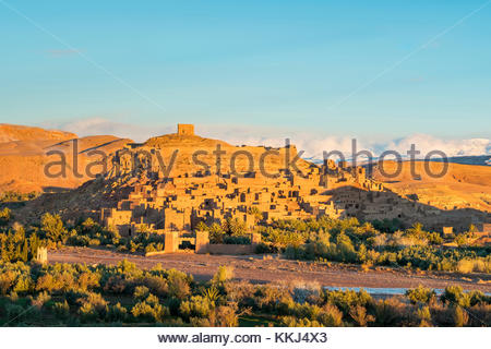 Morocco, Sous-Massa (Sous-Massa-Draa), Ouarzazate Province. Ksar of Ait Ben Haddou (Ait Benhaddou). - Stock Photo