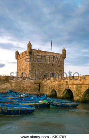 Morocco, Marrakesh-Safi (Marrakesh-Tensift-El Haouz) region, Essaouira. Skala du Port, 18th-century seafront ramparts - Stock Photo