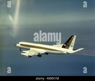Air-to-air with a Convair 880 - Stock Photo