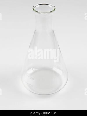 Laboratory beaker on white - Stock Photo