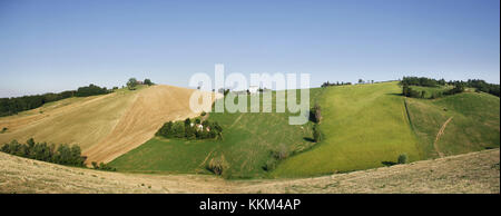 Beautiful view of rolling countryside, Italy - Stock Photo