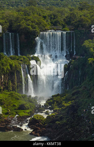 Iguazu Falls, Argentina, seen from Brazil side, South America - Stock Photo