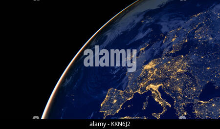 City lights on world map north america stock photo 129599753 alamy europe city lights on world map europe elements of this image are furnished by gumiabroncs Image collections
