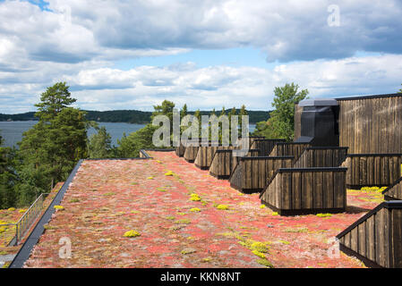 Rooftop of the art museum Artipelag in the Stockholm archipelago, in Sweden - Stock Photo