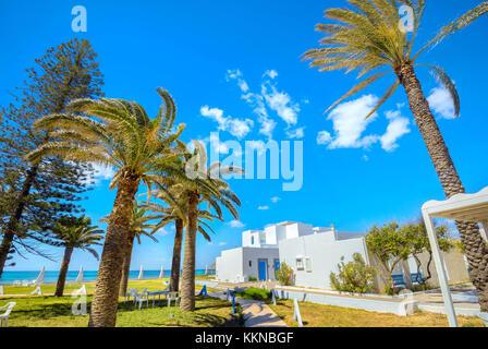 Shoreline of seaside resort in Nabeul. Tunisia, North Africa - Stock Photo