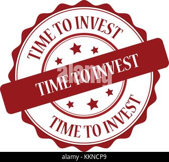 Time to invest stamp illustration - Stock Photo