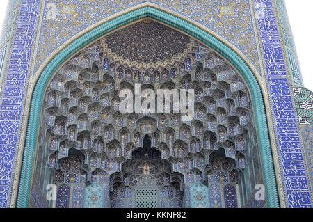 ROYAL MOSQUE AT ISFAHAN, IRAN - Stock Photo