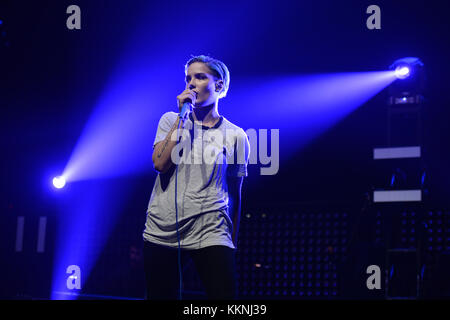 SUNRISE, FL - JULY 11: Hasley Performs at the BB&T Center on July 11, 2015 in Sunrise, Florida.  People:  Hasley Stock Photo