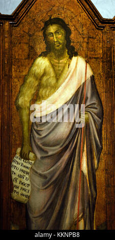 John the Baptist by Florentine painter 15th Century Museo dell'Opera del Duomo in Florence, Florence Italy - Stock Photo