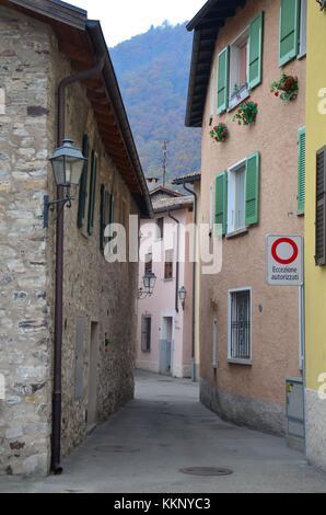 The village of Melide in Ticino, Switzerland - Stock Photo