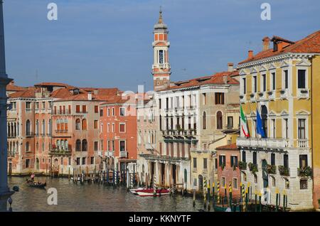Venezia (Venice) in Italy: View of the Canale Grande - Stock Photo
