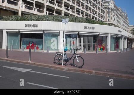 Hermes designer shop, Boulevard de la Croisette, Cannes