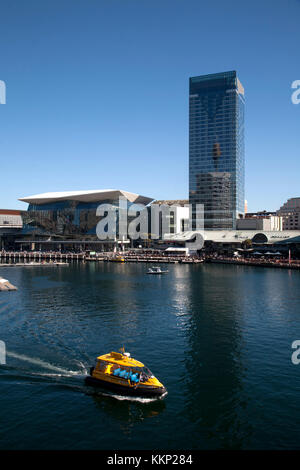 water taxi darling harbour sydney new south wales australia - Stock Photo