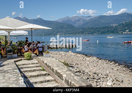 The only one of the three Borromean islands that is not owned by the royal Borromeo family, Isola dei Pescatori - Stock Photo