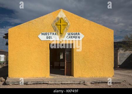 Boquillas del Carmen, Coahuila, Mexico - Nuestra Señora del Carmen Catholic Church in the small border town of - Stock Photo