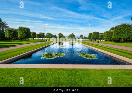 The Normandy American Cemetery Memorial  in Colleville-sur-Mer, Normandy, France, that honors American troops who - Stock Photo