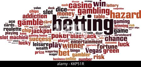 Betting word cloud concept. Vector illustration - Stock Photo