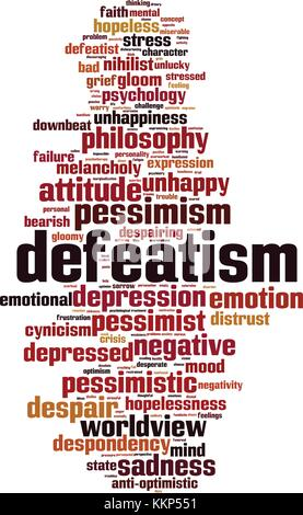 Defeatism word cloud concept. Vector illustration - Stock Photo