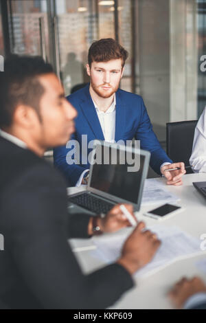 Group Young Coworkers Making Great Business Decisions