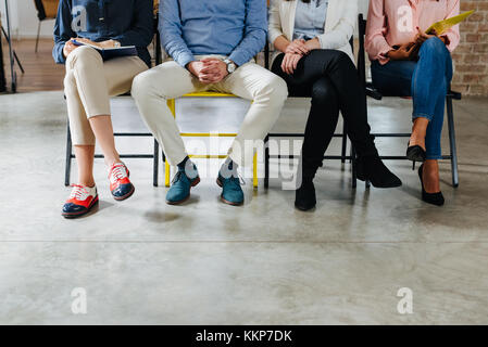 Waiting for a job interview with human resources department - Stock Photo
