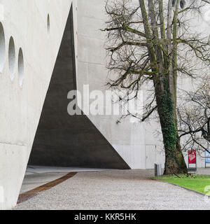 Modern annex building of the state museum of Zurich, architectural detail - Stock Photo
