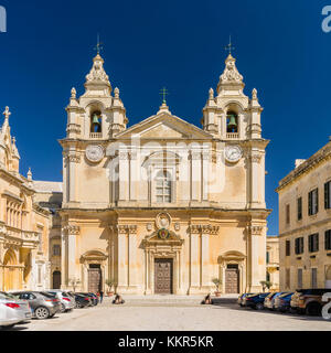 Cathedral of St Paul in Mdina on Malta - Stock Photo