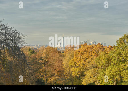 view over london from horniman museum - Stock Photo