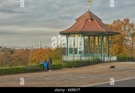 view over south london from horniman museum - Stock Photo