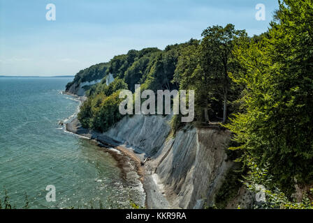 View of Königsstuhl King`s Chair is the famous chalk cliff on Rügen Island, Jasmund National Park. - Stock Photo