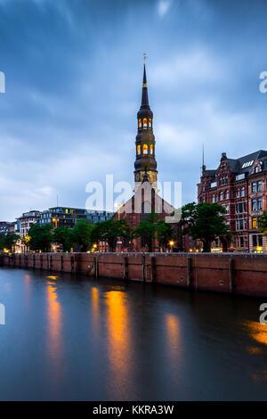 St. Catherine's Church in Hamburg - Stock Photo