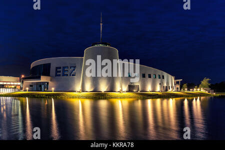 The Energie Erlebnis Zentrum Aurich is a modern centre about energy and it's usage. - Stock Photo