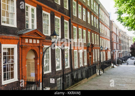 England, London, City of London, Inns of Court, Inner Temple, King's Bench Walk - Stock Photo