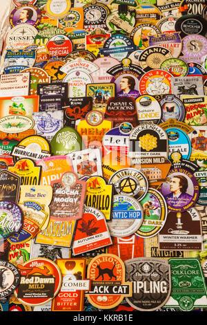 England, London, Pub Beer Mat Decoration - Stock Photo