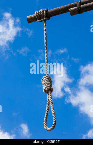 England, London, Wapping, The Prospect of Whitby Riverside Pub, The Hangman's Noose - Stock Photo